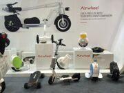Стенд компании Airwheel, Гонконг, 2016
